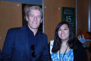 Dee with Michael Bolton